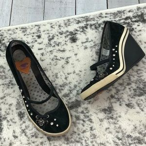 Rocket Dog rhinestone wedges
